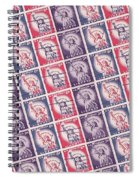 Liberty Stamps Collage Spiral Notebook