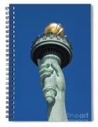 Liberty Torch Spiral Notebook