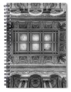 Library Of Congress Main Hall Ceiling Bw Spiral Notebook