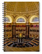 Library Of Congress Main Reading Room Spiral Notebook