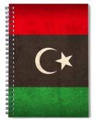 Libya Flag Vintage Distressed Finish Spiral Notebook