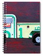 License Plate Art Pickup Truck Spiral Notebook