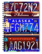 License Plate Spiral Notebook