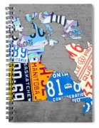 License Plate Map Of Canada On Gray Spiral Notebook