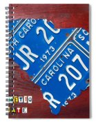 License Plate Map Of South Carolina By Design Turnpike Spiral Notebook