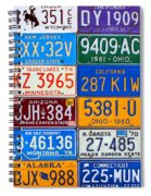 License Plates Of The Usa - Our Colorful American History Spiral Notebook