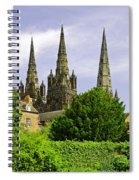 Lichfield Cathedral From The Garden Spiral Notebook