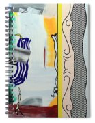 Lichtenstein's Painting With Statue Of Liberty Spiral Notebook