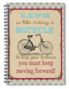 Life-bicycle Spiral Notebook