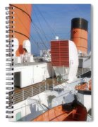 Life Boats 02 Queen Mary Ocean Liner Port Long Beach Ca Spiral Notebook