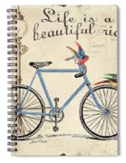 Life Is A Beautiful Ride Spiral Notebook