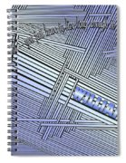 Life Is Material Spiral Notebook