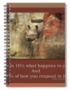 Life Is Moments Of Camouflage Spiral Notebook