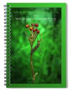 Life Is Slow And Steady Spiral Notebook