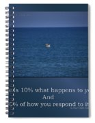 Life Is Soaring Solo Sometimes Spiral Notebook