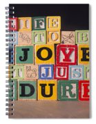 Life Is To Be Enjoyed Not Just Endured Spiral Notebook