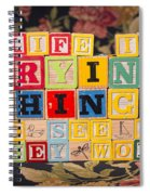 Life Is Trying Things To See If They Work Spiral Notebook