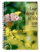 Life Lesson - As It Comes Spiral Notebook
