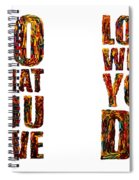 Life Love Acrylic Palette Knife  Spiral Notebook