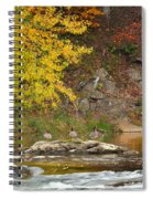Life On The River Square Spiral Notebook