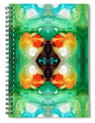 Life Patterns 1 - Abstract Art By Sharon Cummings Spiral Notebook