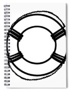 Life Preserver In Black And White Spiral Notebook