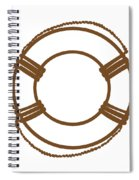 Life Preserver In Brown And White Spiral Notebook