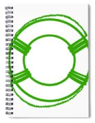 Life Preserver In Green And White Spiral Notebook