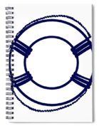 Life Preserver In Navy Blue And White Spiral Notebook