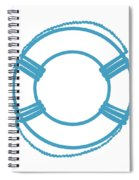 Life Preserver In Turquoise And White Spiral Notebook
