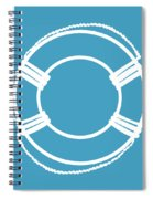 Life Preserver In White And Turquoise Blue Spiral Notebook