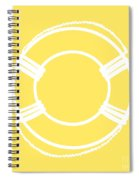 Life Preserver In White And Yellow Spiral Notebook