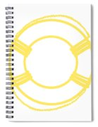 Life Preserver In Yellow And Whtie Spiral Notebook