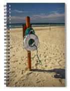 Life Preserver On The Beach In Pentwater Michigan Spiral Notebook