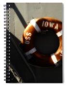 Life Ring Uss Iowa Battleship Sepia Spiral Notebook
