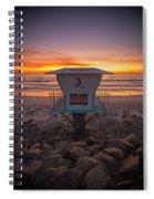 Lifeguard Tower At Dusk Spiral Notebook