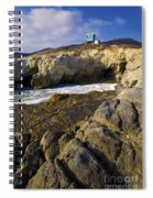 Lifeguard Tower On The Edge Of A Cliff Spiral Notebook