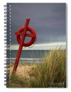 Lifesaver On The Beach Spiral Notebook