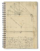 Lifting By Means Of Pulleys Of Beam With Extremity Fixed To Ground From Atlantic Codex Spiral Notebook