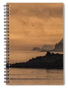 Lifting Fog At Sunrise On Campobello Coastline Spiral Notebook