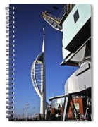 Lifting Portsmouth's Spinnaker Tower Spiral Notebook