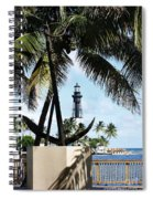 Light And Anchor Spiral Notebook
