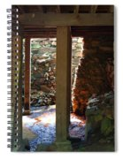 Light And Shadow Below The Mill Spiral Notebook