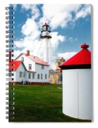 Light At Whitefish Point Spiral Notebook