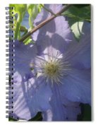Light Blue Clematis Spiral Notebook