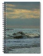 Light Blue Waves Spiral Notebook