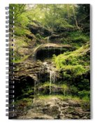 light flow at Cathedral Falls Spiral Notebook