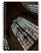Light - Arched Windows And Golden Chandeliers Spiral Notebook