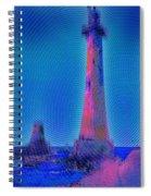 Light House At Sunset 1 Spiral Notebook