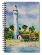 Light House At The Beach Spiral Notebook